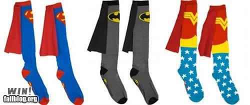 batman comic book nerdgasm socks super hero superheroes superman wonder woman - 5327860480