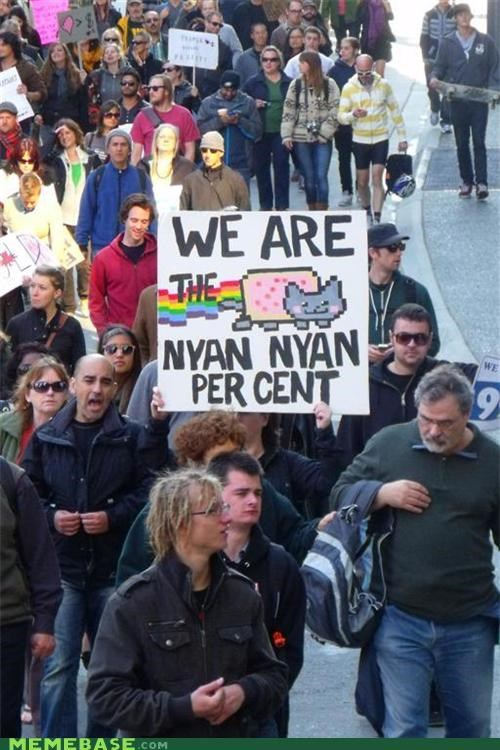 1 percent 99 animemes best of week IRL Nyan Cat occupy people Wall Street - 5327889920