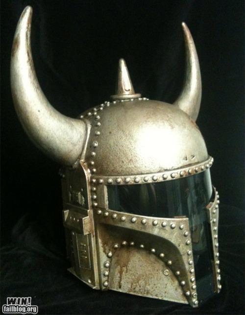 boba fett costume custom DIY helmet nerdgasm star wars viking - 5327891712