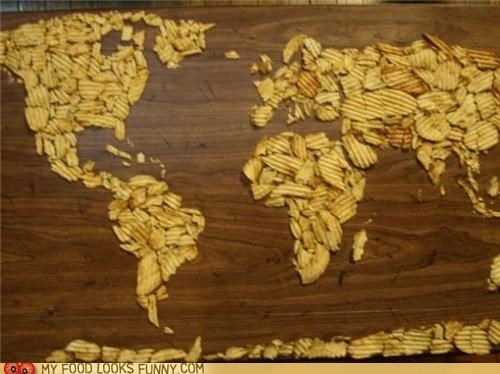 map,potato chips,ridges,ruffles,snack,world