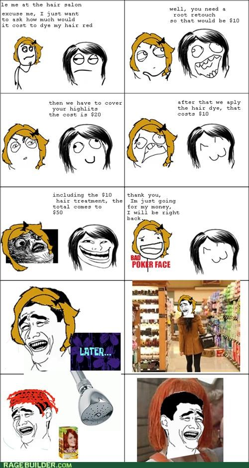 cost,dye,hair,Rage Comics