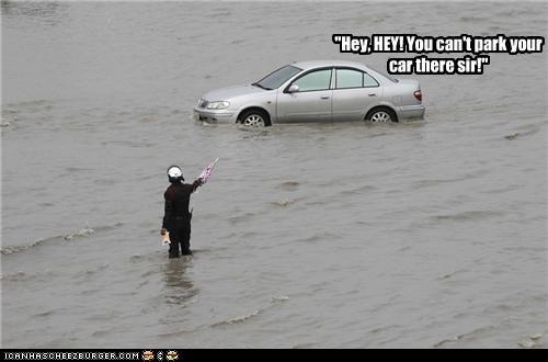 car flood flooding parking police - 5327968000
