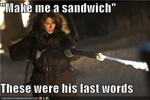 flame thrower last words mary elizabeth winstead sandwich sexism