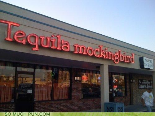 Hall of Fame,Harper Lee,mockingbird,name,novel,shop,similar sounding,tequila,To Kill A Mockingbird