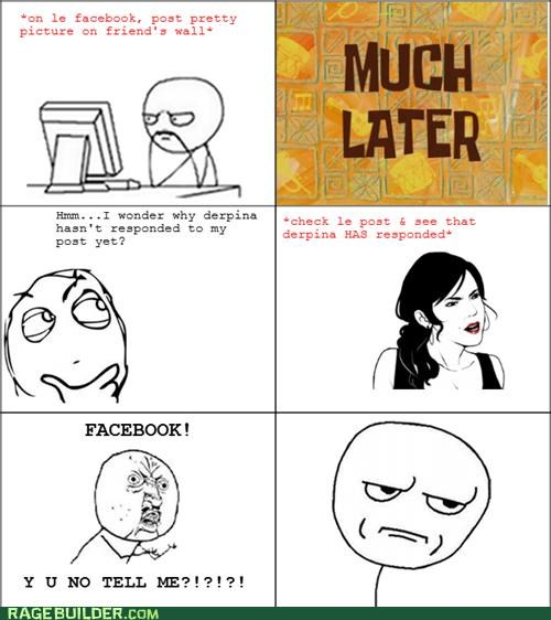 facebook,notification,Rage Comics,Y U No Guy