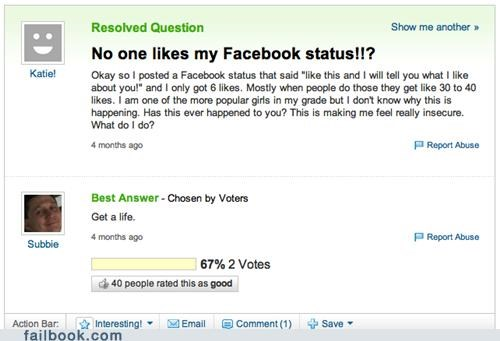 like,oh snap,status,yahoo answers