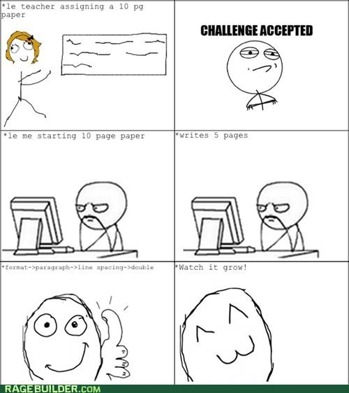 length paper Rage Comics school - 5328177408