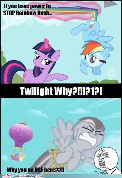 magic rainbow dash TV twilight sparkle y u no use your power - 5328196352