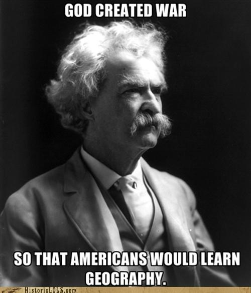 funny historic lols history mark twain Photo quote - 5328291328
