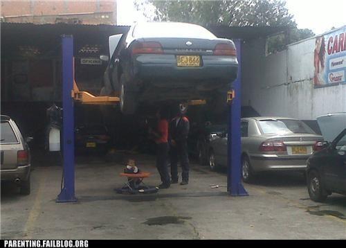 baby car dangerous FAIL mechanic Parenting Fail repair - 5328586240