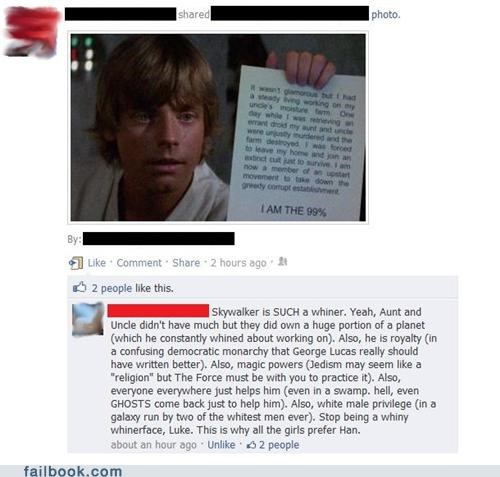 Featured Fail luke skywalker Occupy Wall Street star wars win witty reply - 5328673280