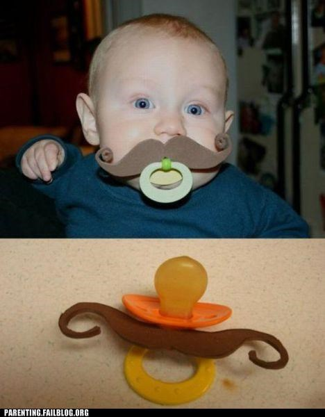 baby chap dandy Hall of Fame sir mustache pacifier Parenting Fail parenting WIN