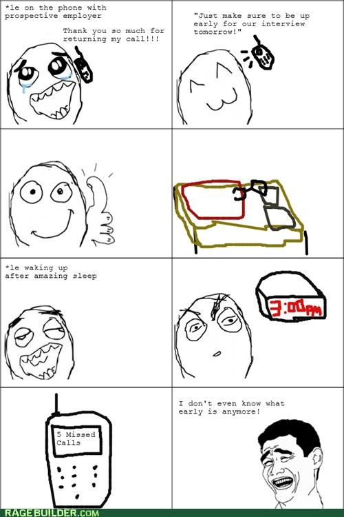 alarm interview Rage Comics sleep unemployed