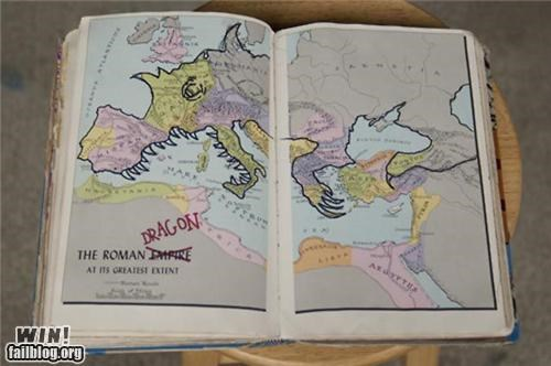 dragon drawing europe hidden map outline roman - 5329127168