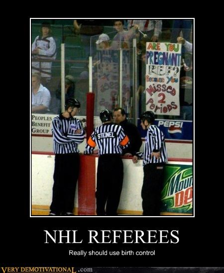 hilarious,NHL,periods,pregnant,referees