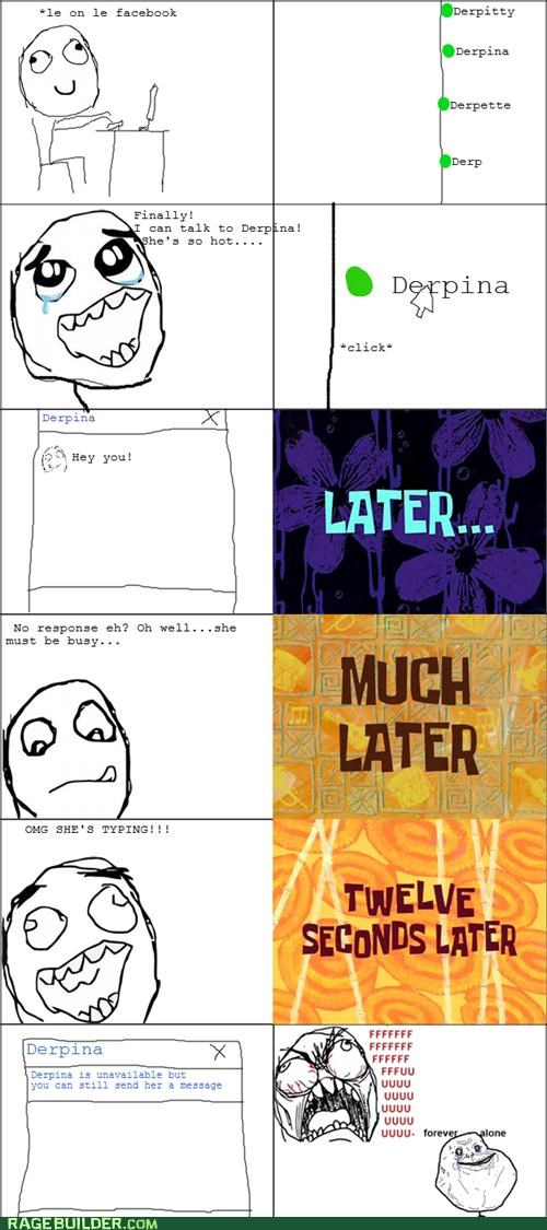 crush,facebook,forever alone,Rage Comics