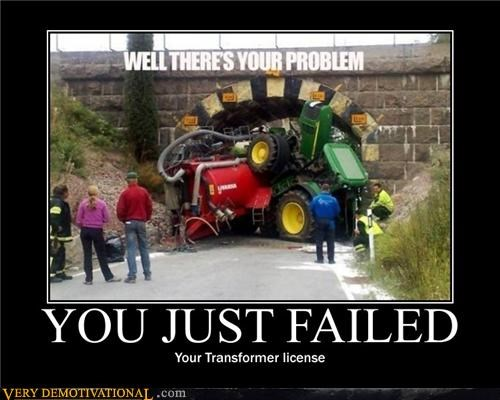 hilarious,license,transformers,wreck,wtf