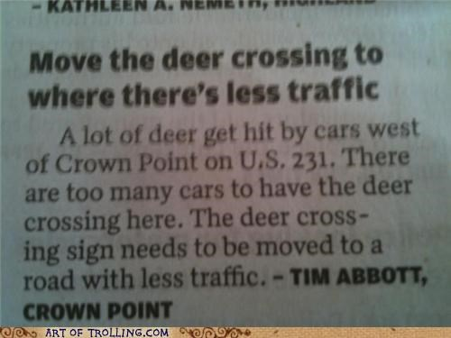 crossing deer sign wtf - 5331115520