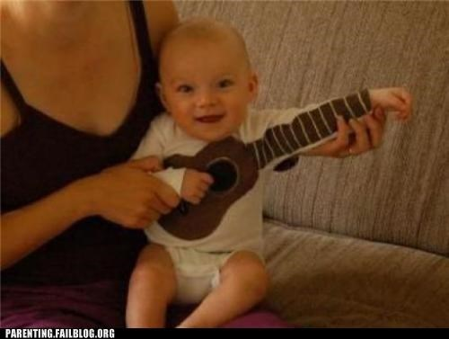 baby,clever,guitar,Hall of Fame,instrument,Parenting Fail,shirt,ukulele