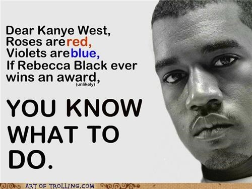 interrupting kanye,kanye west,Rebecca Black