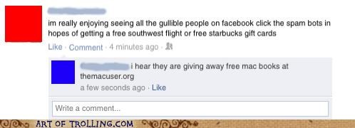 facebook,gullible,shock sites,the mac user