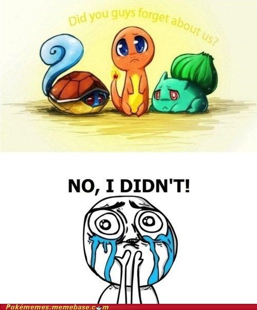 awesome,bulbasaur,charmander,comic,first gen,forget,never,no-i-didnt,squirtle