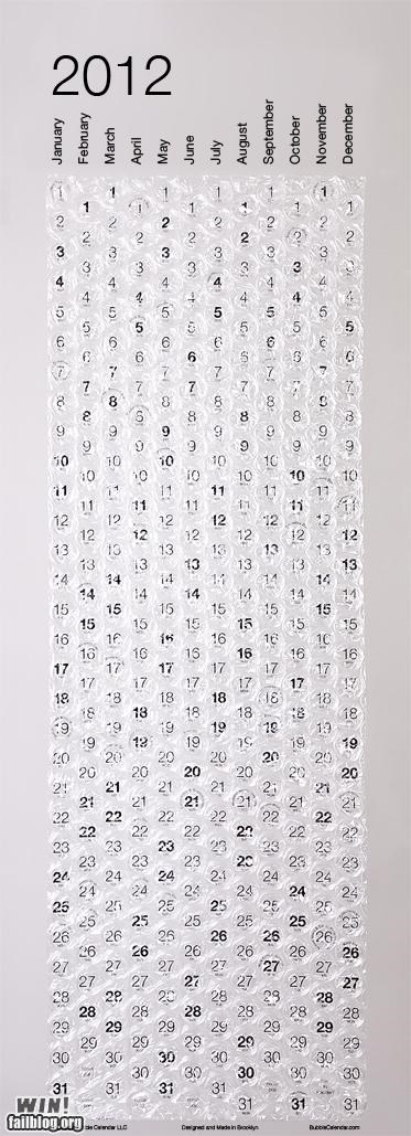 2012 bubble wrap calendar Office packing time - 5331917824