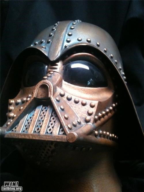 custom darth vader DIY helmet nerdgasm question mark star wars Steampunk - 5331934720