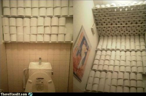bathroom overkill toilet paper