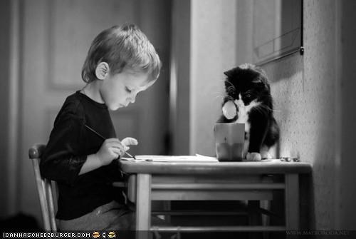 art black and white cups cyoot kitteh of teh day help helping kids - 5332235776