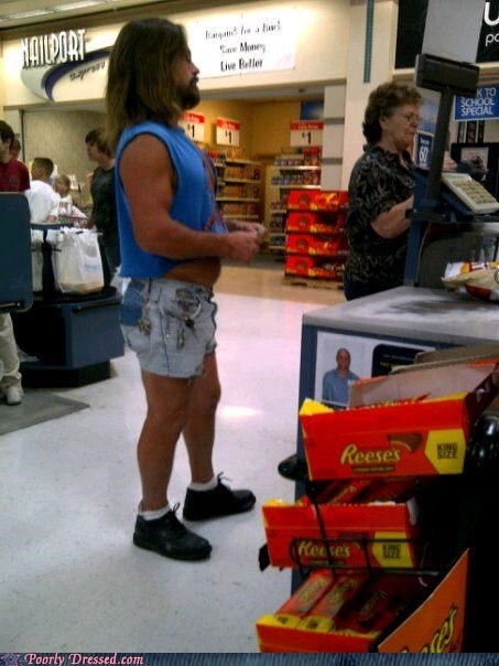 jean shorts,not enough shirt,rednecks
