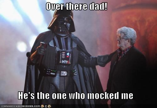 dad,darth vader,george lucas,mock,star wars