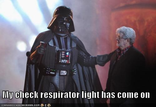 check darth vader george lucas light respirator star wars