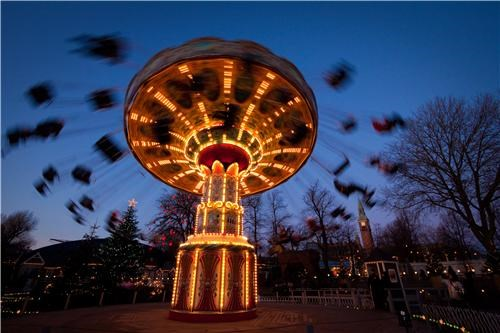 amusement carnival ride copenhagen denmark europe fun getaways night night photography ride swing - 5332809984