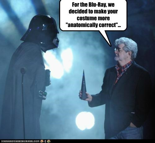 anatomically correct bluray changes costume darth vader george lucas star wars - 5332865024