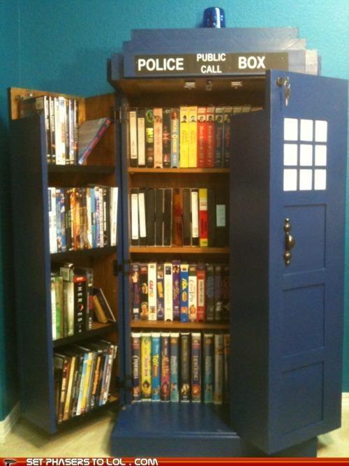 bigger on the inside bookshelf doctor who tardis want - 5332891136