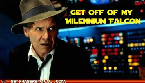 Harrison Ford Indiana Jones mash up Millenium Falcon star wars - 5332952064