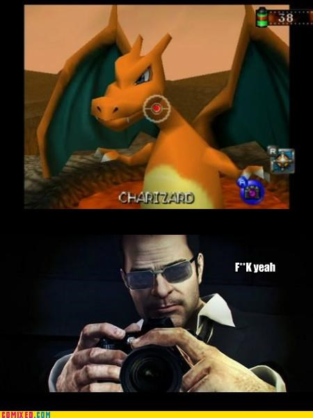 charizard,frank west,off the record,pokemon snap,video games
