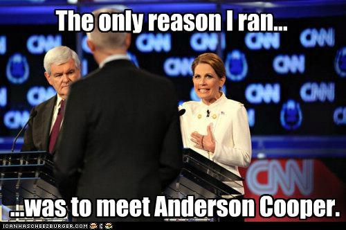 Anderson Cooper,Michele Bachmann,political pictures