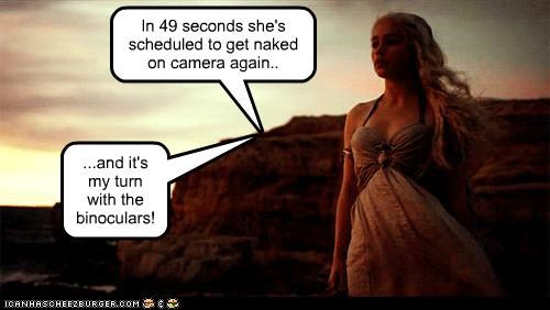 binoculars,camera,Daenerys Targaryen,Emilia Clarke,Game of Thrones,naked