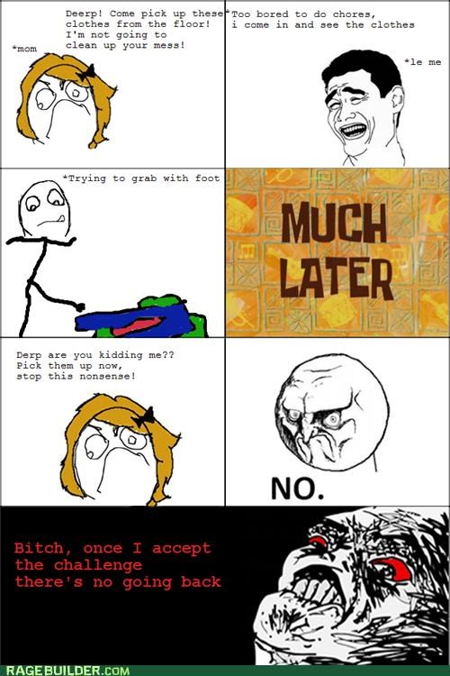 chores clothes feet Rage Comics - 5334514688