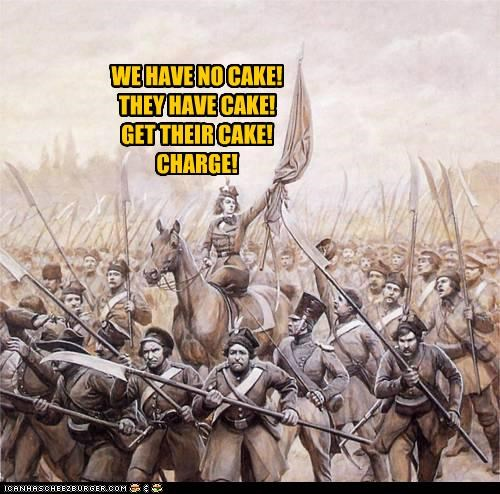 Battle cake get them historic lols the cake is a lie war we need charge - 5334524160
