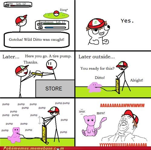 awwwwww yeaaa,comic,ditto,games,mew,rage comic,Rage Comics