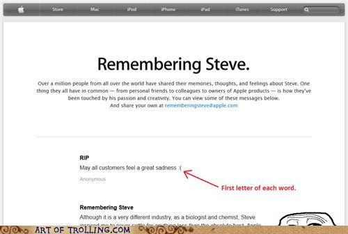 first letter rip steve jobs - 5334949376