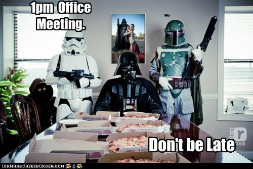 boba fett,darth vader,meeting,Office,pizza,star wars,stormtrooper