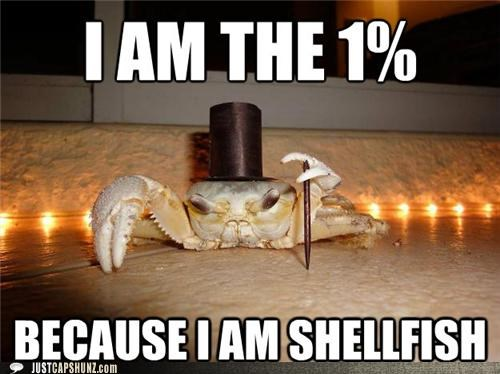 cane crab dapper Occupy Movement occupy wallstreet selfish shellfish top hat - 5335384320