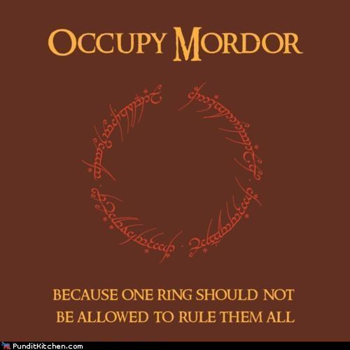 geek Hall of Fame Lord of the Rings mordor Occupy Wall Street political pictures