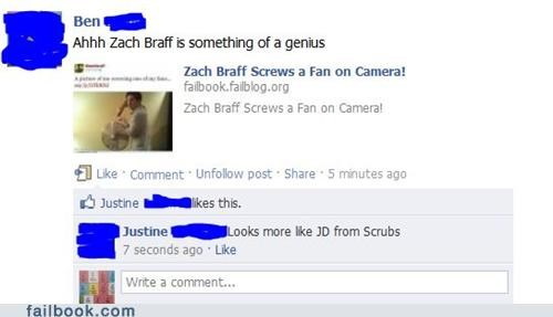 facepalm puns scrubs zach braf - 5335477504