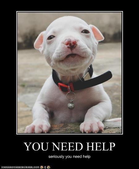 YOU NEED HELP seriously you need help