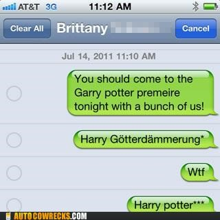 autocorrect german Harry Potter Movie premeire